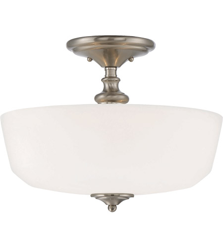 Savoy House 6-6835-2-SN Melrose 2 Light 14 inch Satin Nickel Semi-Flush Mount Ceiling Light photo