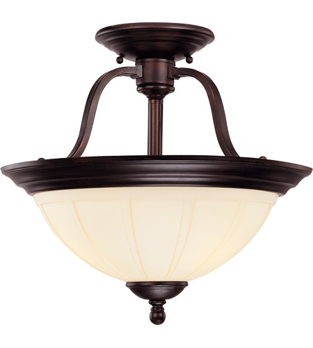 Savoy House Vanguard 3 Light Semi-Flush in English Bronze 6-6906-3-13 photo