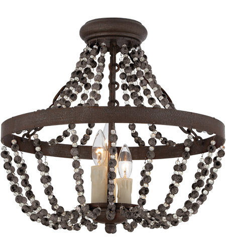 Savoy House 6-7403-3-39 Mallory 3 Light 18 inch Fossil Stone Semi-Flush Ceiling Light, Convertible photo