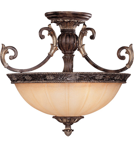 Savoy House 6-751-3-241 Grenada 3 Light 24 inch Moroccan Bronze Semi-Flush Ceiling Light photo
