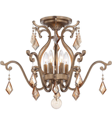 Savoy House Rothchild 6 Light Semi-Flush Mount in Oxidized Silver 6-8106-6-128
