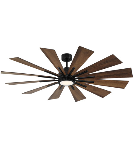 Savoy House 60 760 12ao 89 Farmhouse 60 Inch Matte Black With Antique Oak Blades Ceiling Fan