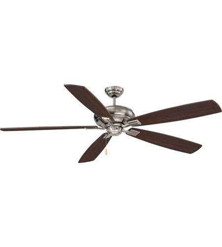 Savoy House 68-227-5CN-187 Wind Star 68 inch Brushed Pewter with Chestnut Blades Ceiling Fan photo