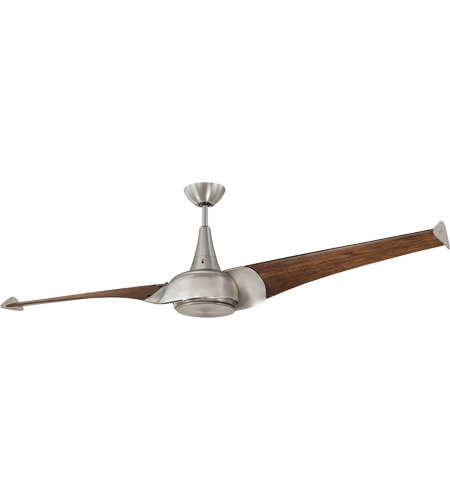 Savoy House Ariel 1 Light Ceiling Fan in Satin Nickel 68-818-2CN-SN