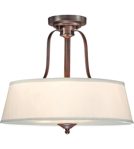 Savoy House Maremma 3 Light Semi Flush Mount in Espresso 6P-2175-3-129