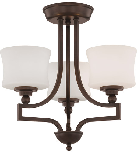 Savoy House 6P-7213-3-13 Terrell 3 Light 18 inch English Bronze Semi-Flush Ceiling Light photo