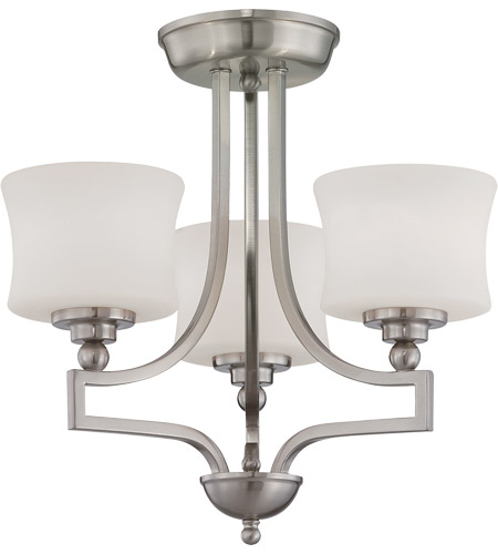 Savoy House 6P-7213-3-SN Terrell 3 Light 18 inch Satin Nickel Semi-Flush Ceiling Light photo