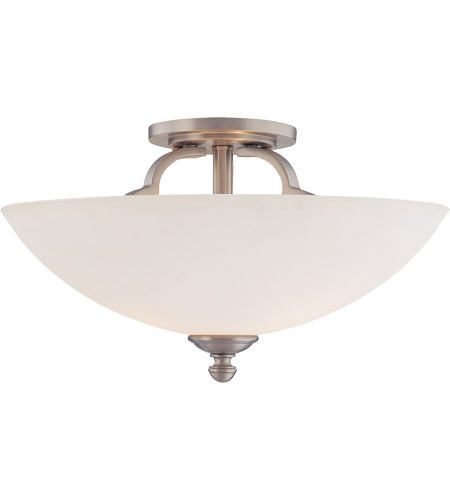 Savoy House Marcelina 3 Light Semi Flush Mount in Pewter 6P-964-3-69 photo