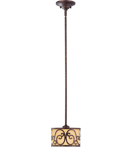 Savoy House 7-015-1-56 San Simeon 1 Light 9 inch New Tortoise Shell Mini Pendant Ceiling Light in Rustic Cream photo
