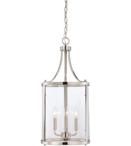 Savoy House Penrose 3 Light Foyer in Polished Nickel 7-1040-3-109