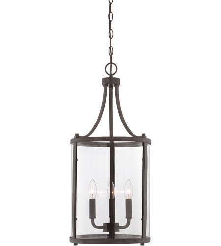 Savoy House 7-1040-3-13 Penrose 3 Light 12 inch English Bronze Foyer Lantern Ceiling Light, Small photo