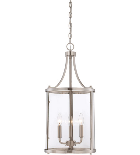 Savoy House 7-1040-3-SN Penrose 3 Light 12 inch Satin Nickel Foyer Lantern Ceiling Light, Small photo