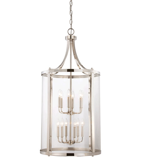 Savoy House Penrose 12 Light Foyer in Polished Nickel 7-1042-12-109