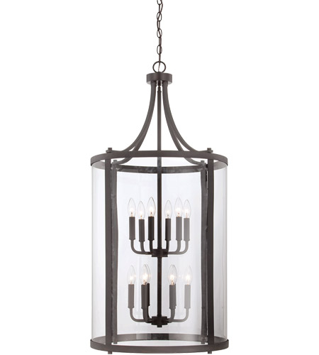 Savoy House 7-1042-12-13 Penrose 12 Light 20 inch English Bronze Foyer Lantern Ceiling Light, Large photo