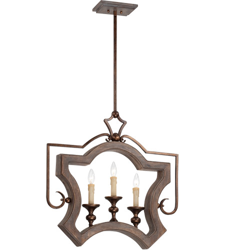 Savoy House Berwick 3 Light Pendant in Dark Wood and Guilded Bronze 7-1330-3-327 photo