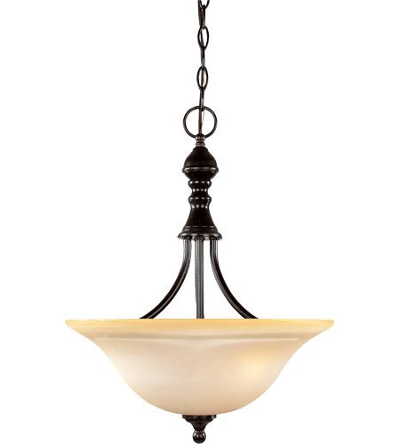 Savoy House 7-1708-3-13 Sutton Place 3 Light 16 inch English Bronze Pendant Ceiling Light photo
