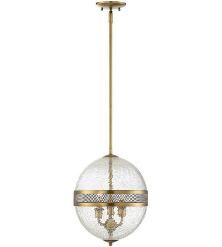 Savoy House Stirling 12 inch 3-Light Pendant in Warm Brass
