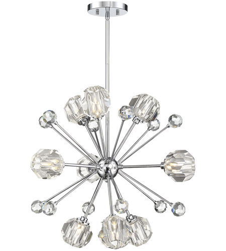 Savoy House 7-2144-9-11 Urbain 9 Light 24 inch Polished Chrome Pendant Ceiling Light photo