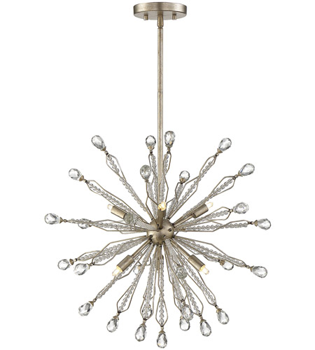 Savoy House 7 2146 6 176 Alcott Light 21 Inch Silver Lace Pendant Ceiling