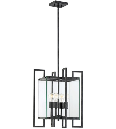 Savoy House 7-2282-4-150 Bennington 4 Light 18 inch Black Steel Pendant Ceiling Light photo