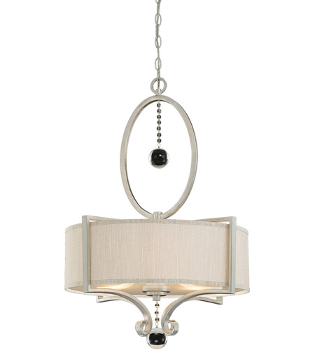 Savoy House Rosendal 3 Light Pendant in Silver Sparkle 7-253-3-307