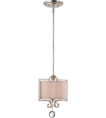 Savoy House 7-255-1-307 Rosendal 1 Light 10 inch Silver Sparkle Mini Pendant Ceiling Light photo