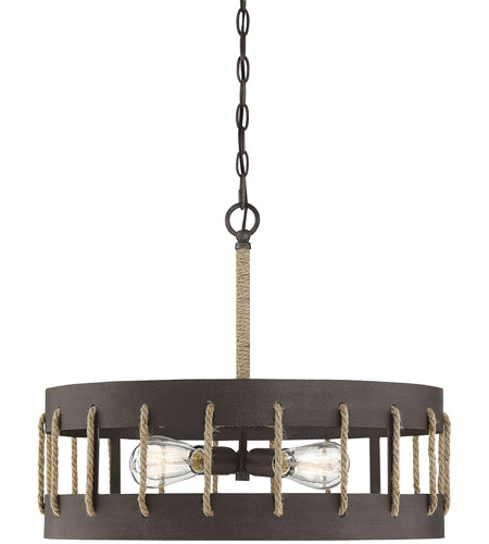 Savoy House 7 2661 4 32 Leland Light 23 Inch Rust Pendant Ceiling