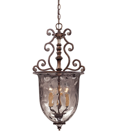 Savoy House 7-3006-3-8 St. Laurence 3 Light 15 inch New Tortoise Shell/Silver Pendant Ceiling Light in Clear Water photo