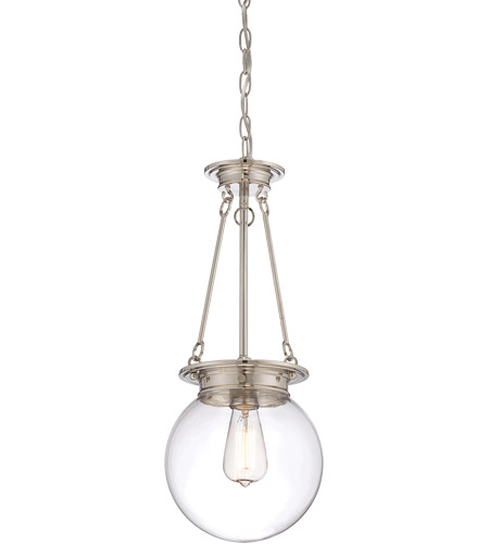 Savoy House 7-3300-1-109 Landon 1 Light 9 inch Polished Nickel Pendant Ceiling Light, Orb photo