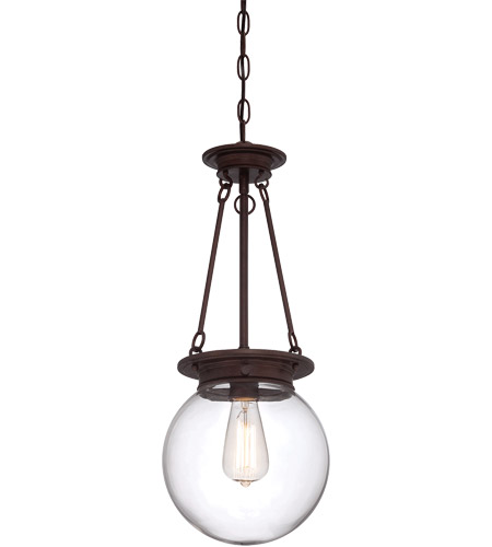Savoy House Glass Filament 1 Light Pendant in Oiled Burnished Bronze 7-3300-1-28