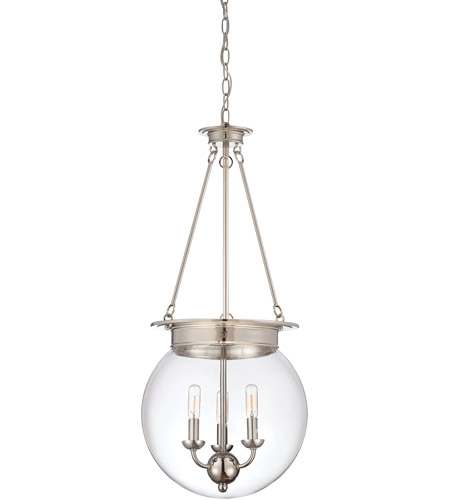 Savoy House 7-3301-3-109 Landon 3 Light 14 inch Polished Nickel Pendant Ceiling Light, Orb photo