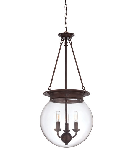 Savoy House 7-3301-3-28 Landon 3 Light 14 inch Oiled Burnished Bronze Pendant Ceiling Light, Orb photo