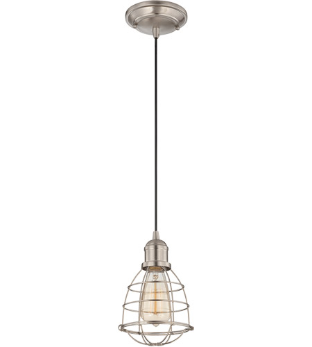 Savoy House 7-4130-1-SN Vintage 1 Light 6 inch Satin Nickel Mini Pendant Ceiling Light photo