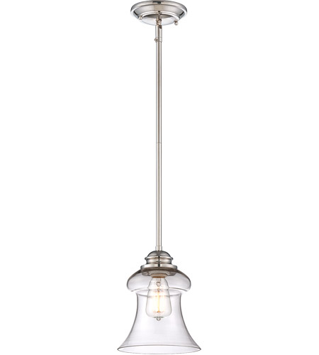 Savoy House Glass Filament 1 Light Mini Pendant in Polished Nickel 7-4132-1-109
