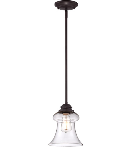 Savoy House Glass Filament 1 Light Mini Pendant in English Bronze 7-4132-1-13