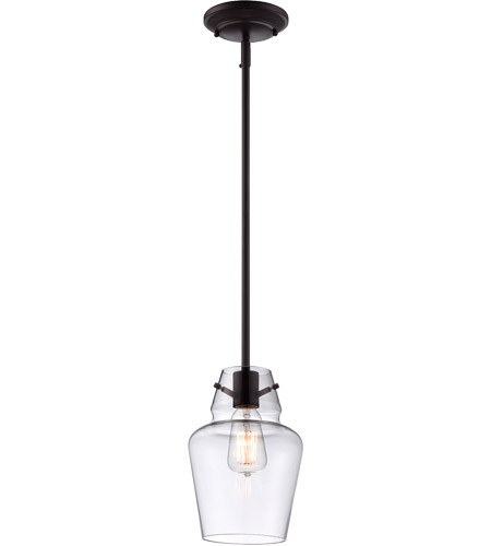 Savoy House Glass Filament 1 Light Mini Pendant in English Bronze 7-4134-1-13