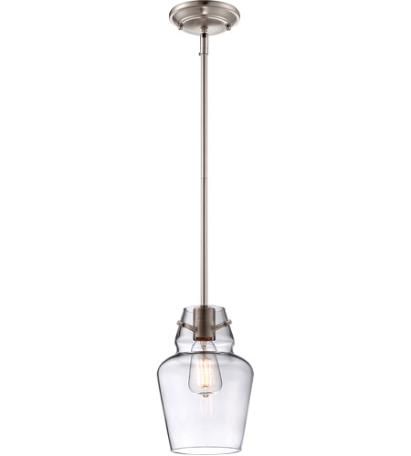 Savoy House Glass Filament 1 Light Mini Pendant in Satin Nickel 7-4134-1-SN