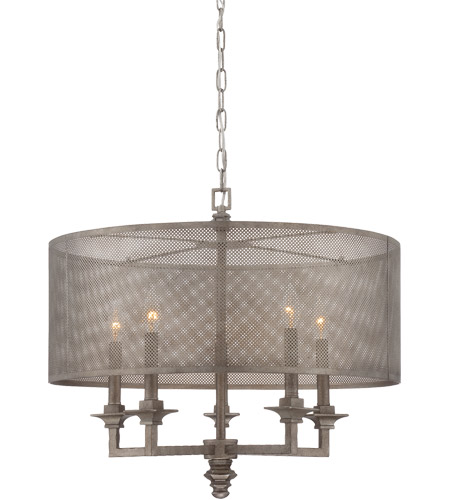 Savoy House Structure 5 Light Pendant in Aged Steel 7-4306-5-242 photo