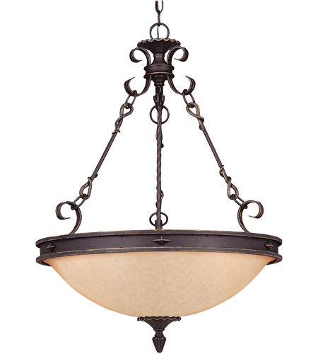 Savoy House Bourges 5 Light Pendant in Forged Black 7-4317-5-17