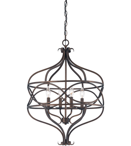 Savoy House 7-4351-4-13 Society 4 Light 20 inch English Bronze Pendant Ceiling Light photo