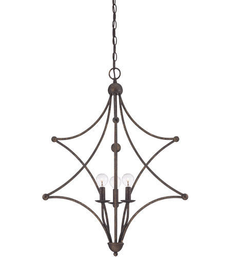 Savoy House Society Collection 3 Light Pendant in English Bronze 7-4352-3-13 photo