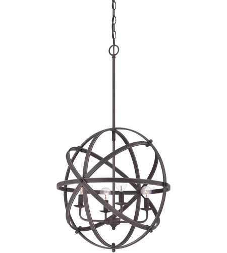 Savoy House 7-4353-4-13 Dias 4 Light 20 inch English Bronze Orb Pendant Ceiling Light photo