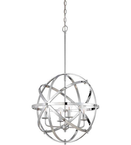 Savoy House 7-4353-4-CH Dias 4 Light 20 inch Chrome Orb Pendant Ceiling Light  photo