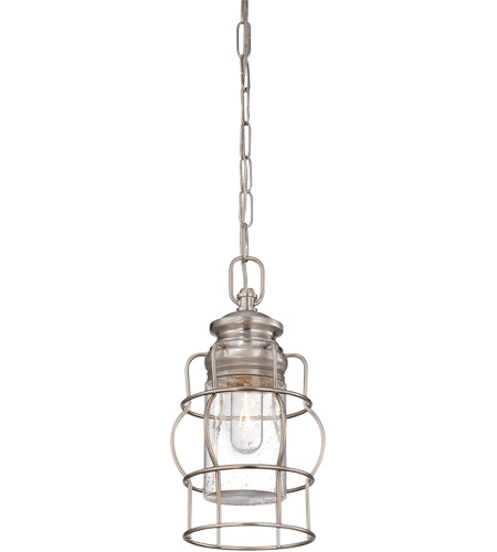 Savoy House Vintage Pendant 1 Light Mini Pendant in Satin Nickel 7-5061-1-SN