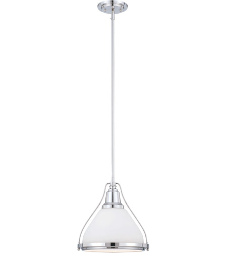 Savoy House 7-5375-1-109 Vintage 1 Light 12 inch Polished Nickel Pendant Ceiling Light photo