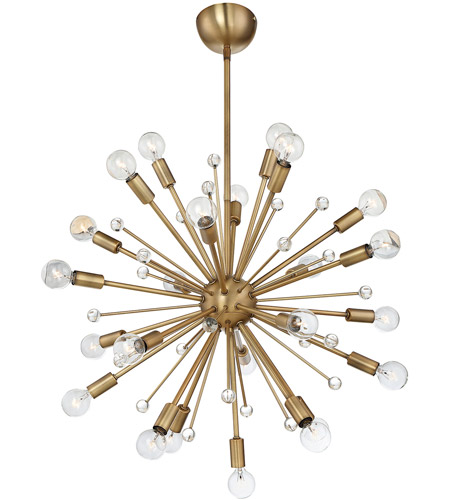 Savoy House 7-6099-24-322 Galea 24 Light 23 inch Warm Brass Chandelier Ceiling Light photo