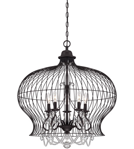 Savoy House 7-6101-5-17 Abagail 5 Light 26 inch Forged Black Pendant Ceiling Light photo