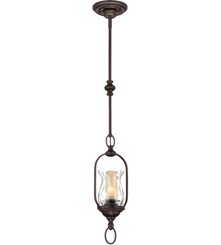 Savoy House Shadwell 1 Light Mini Pendant in English Bronze w/Gold 7-6722-1-213