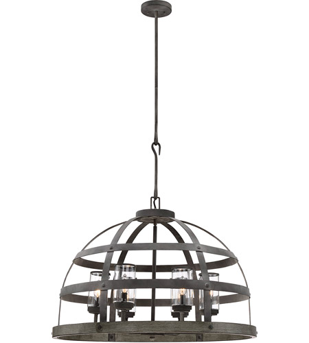 Savoy House 7-7091-6-49 Aiken 6 Light 32 inch Winterwood Outdoor Pendant photo
