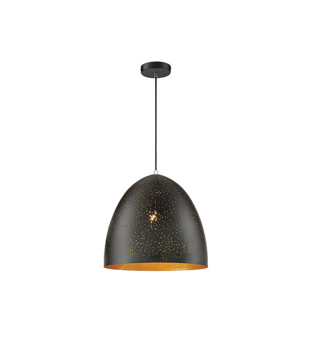 Savoy House 7-800-1-126 Graham 1 Light 16 inch Black with Gold Leaf Pendant Ceiling Light photo thumbnail